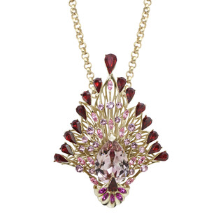 Plume Pendant in Swarovski by Nine Vice, Art Jewellery Pendant