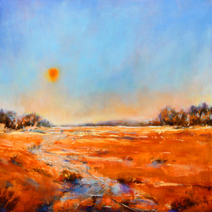 Other side (Gurgaon) by Nidhi Rajput Bhatia, Impressionism Painting, Oil on Linen, Cyan color