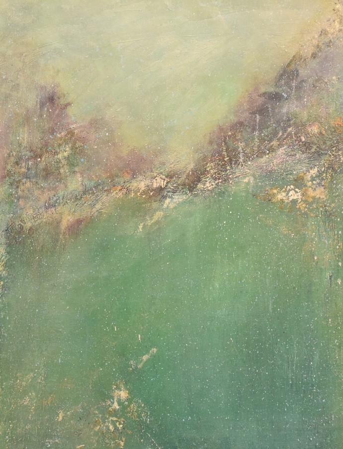 Untitled by Mahesh Sharma, Impressionism Painting, Acrylic on Canvas, Beige color