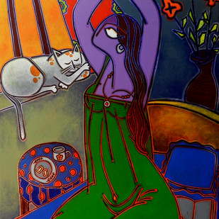 Morning Tea Digital Print by Santanu Nandan Dinda,Expressionism