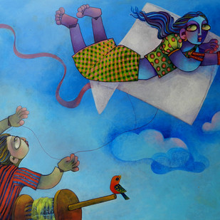 I can fly Digital Print by Sunita Dinda,Expressionism