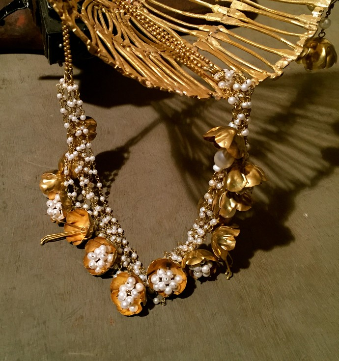 FLORAL NECKLACE N01 by Narayan Art, Contemporary Necklace