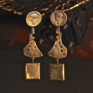 COIN EARRING N10 by Narayan Art, Art Jewellery Earring