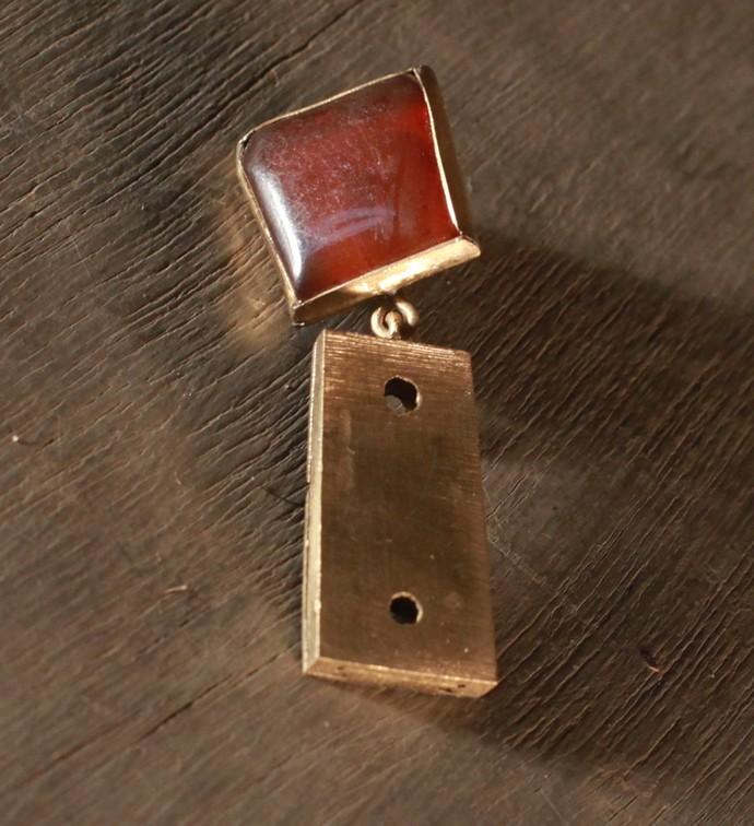 BROWN STONE BROOCH N06 by Narayan Art, Art Jewellery Brooch