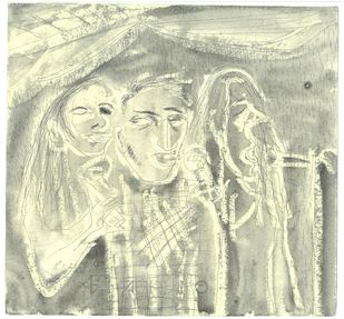 how does it feel? by Anil Simhadri, Expressionism Drawing, Ink on Paper, Beige color