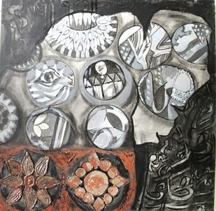 Ishika by Charushila, Impressionism Painting, Acrylic on Canvas, Gray color