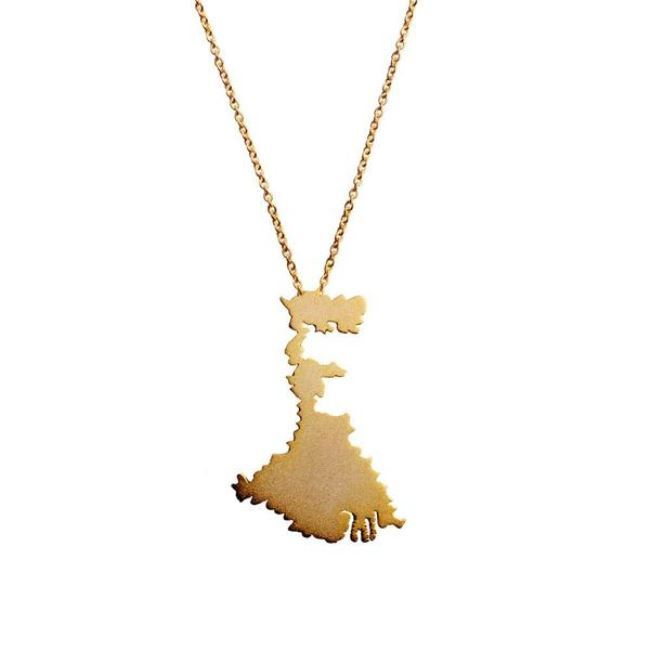 West Bengal Necklace by Eina Ahluwalia, Contemporary Pendant