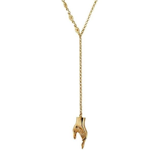 Reach Out Lariat by Eina Ahluwalia, Contemporary Necklace