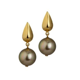Sepia Rain Earrings by Eina Ahluwalia, Contemporary Earring