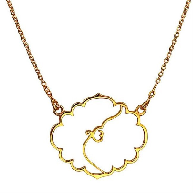 Ek Omkar Necklace by Eina Ahluwalia, Contemporary Necklace