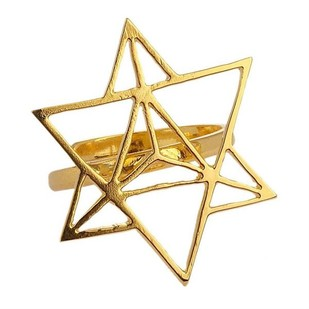 Star Tetrahedron Ring by Eina Ahluwalia, Contemporary Ring