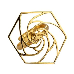 Rose Fractal Ring Ring By Eina Ahluwalia