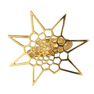 Star Cell Fractal Ring by Eina Ahluwalia, Contemporary Ring