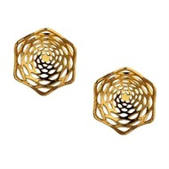 Lotus Fractal Studs by Eina Ahluwalia, Contemporary Earring