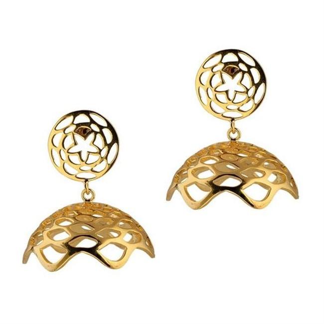 Lotus Fractal Mini Jhumkas by Eina Ahluwalia, Contemporary Earring
