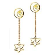 Sacred Geometry Drops by Eina Ahluwalia, Contemporary Earring