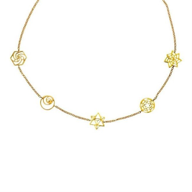 Sacred Geometry Necklace by Eina Ahluwalia, Contemporary Necklace