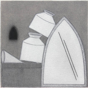 Untitled by Yashwant Deshmukh, Conceptual Painting, Graphite on Paper, Gray color