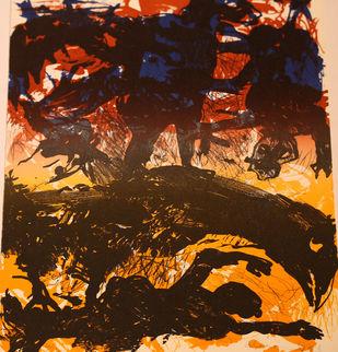 Untitled by Dakoji Devaraj, Impressionism Printmaking, Etching on Paper, Brown color