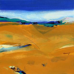 landscape by Bhaskara Rao Botcha, Impressionism Painting, Acrylic on Canvas, Brown color