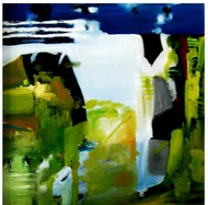 series1 by Vineeta Vadhera, Abstract Painting, Oil on Canvas, Green color
