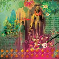 NIRVAANA-1 by Priyanka Kaushal, Digital Digital Art, Digital Print on Canvas, Green color