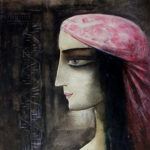 Rag Desh by Abhijit Das, Expressionism Painting, Watercolor on Board, Gray color