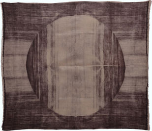 Wither by Neha Puri Dhir, Conceptual Textile, Resist Dyeing on Silk, Brown color