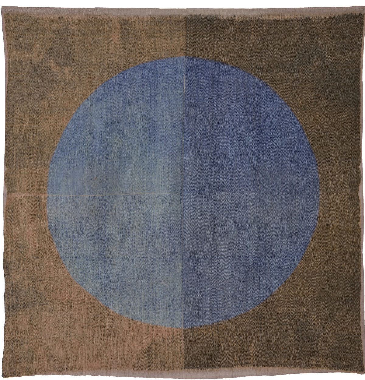Insho by Neha Puri Dhir, Conceptual, Geometrical Textile, Resist Dyeing on Silk, Brown color