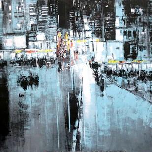 Untitiled by Srinibas Lenka, Impressionism Painting, Acrylic on Canvas, Blue color