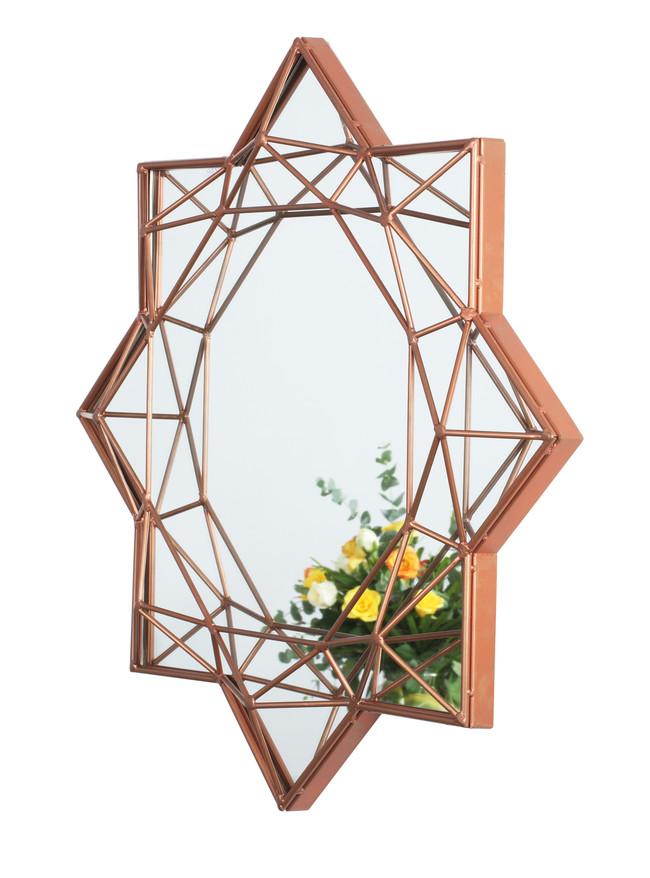 The lohasmith   jewellery box   diamond brilliant round mirror   copper powder coat %28side view%29