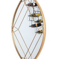 The lohasmith   jewellery box   diamond marquis mirror   gold powder coat %28side view%29
