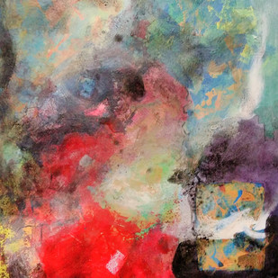 Composition 2 by Ganapathy Subramaniam, Abstract Painting, Acrylic on Paper, Brown color