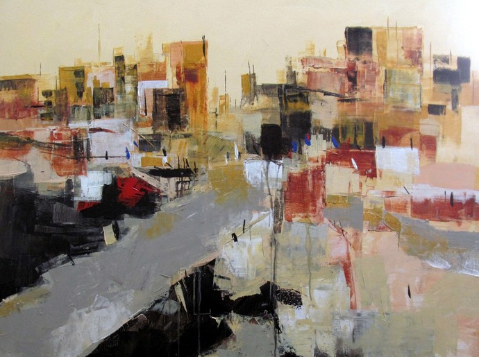 Untitled by Srinibas Lenka, Impressionism Painting, Acrylic on Canvas, Brown color