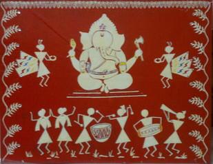 GANESH UTSAV Digital Print by MUKTA GUPTA,Traditional