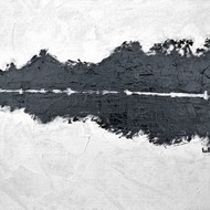 Lake Reflections 1 by Usha Shantharam, Impressionism Painting, Acrylic on Board, Gray color