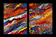 Primal Flux XI by Anu Malhotra, Abstract Painting, Acrylic on Canvas,