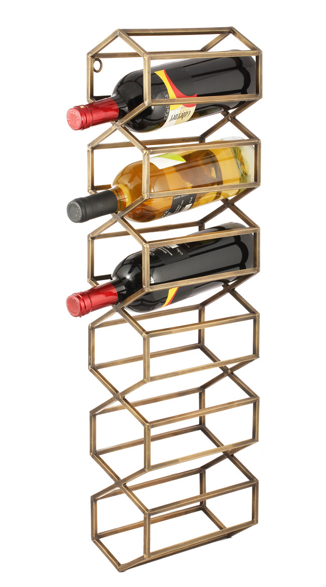The lohasmith   beehive wall wine rack   antique brass %28styled%29