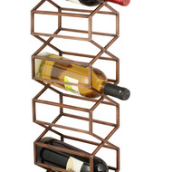 The lohasmith   beehive wall wine rack   antique copper %28styled%29