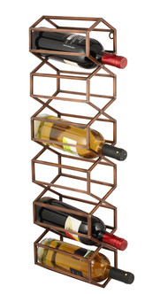 BeeHive Wall Wine & Bar Rack - Antique Copper Accessories By The Lohasmith