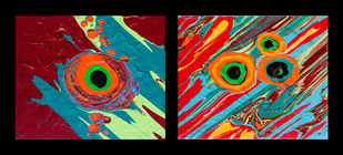 Primal Flux XXIII by Anu Malhotra, Abstract Painting, Acrylic on Canvas,