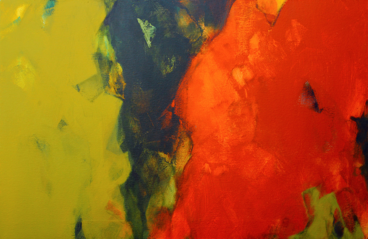 Untitled by Viraj Jaulkar, Abstract Painting, Acrylic on Canvas, Green color
