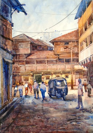 Old Lane Nashik Artwork By Ananda Ahire