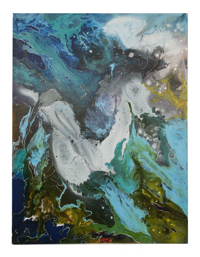 Unicorn by Pooja Bhingarde, Abstract Painting, Acrylic on Canvas, Green color