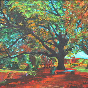 Love In Lal Bagh 2 Digital Print by Usha Shantharam,Impressionism