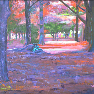 Love in Lal Bagh 3 Digital Print by Usha Shantharam,Impressionism