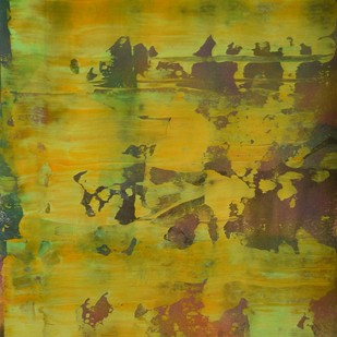 Myriad Reflections (No.1) by Mahesh Sharma, Abstract Painting, Acrylic on Paper, Green color