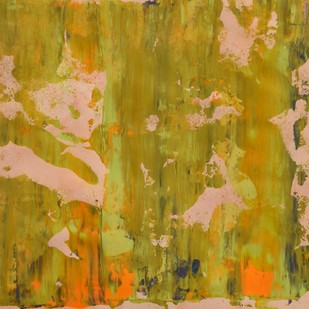 Myriad Reflections (No.15) by Mahesh Sharma, Abstract Painting, Acrylic on Paper, Green color