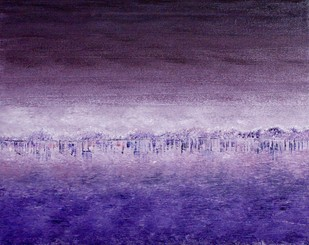 UNTITLED by Anuja Sane, Impressionism Painting, Oil on Canvas, Blue color