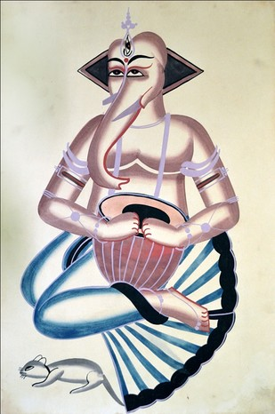 Kalighat Painting Artwork By Unknown Artist